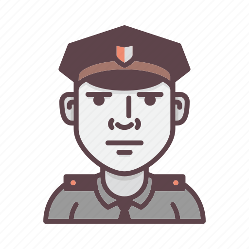 cop, guard, officer, police, policeman, profession icon