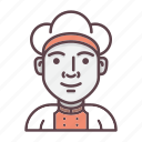 avatar, chef, cooking, kitchen, profession, restaurant, uniform icon