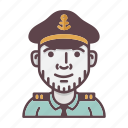 account, avatar, captain, profession, sailor, ship, shipping icon