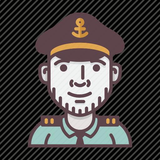 account, avatar, captain, profession, sailor, ship, shipping icon