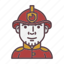 firefighter, account, avatar, fire, fireman, profession, profile