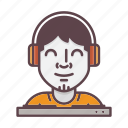 avatar, dj, music, party, person, profession, profile icon