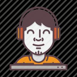 avatar, dj, music, party, person, profession, profile icon