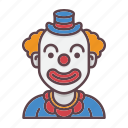 birthday, celebration, circus, clown, joker, party, profession icon
