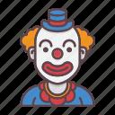 clown, birthday, celebration, circus, joker, party, profession