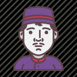avatar, concierge, help, hotel, hotel service, lobby boy, profession icon