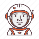 astronaut, astronomy, cosmonaut, nasa, profession, spaceman, spaceship icon