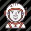 astronaut, astronomy, cosmonaut, nasa, profession, spaceman, spaceship icon