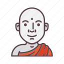 avatar, budda, monk, priest, profession, religion, yoga icon