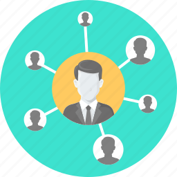 business, community, connection, connectivity, network, people icon