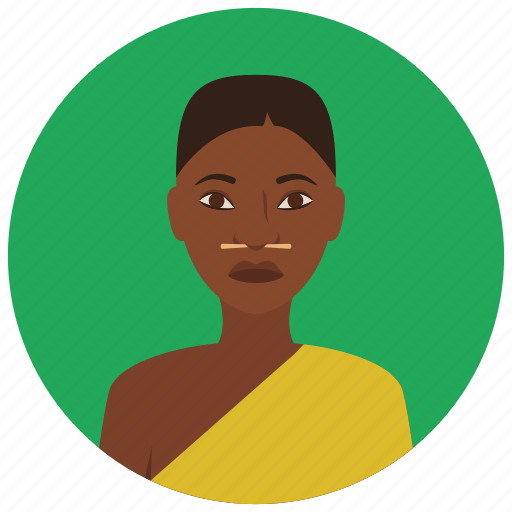 african, avatar, culture, people, user, woman icon