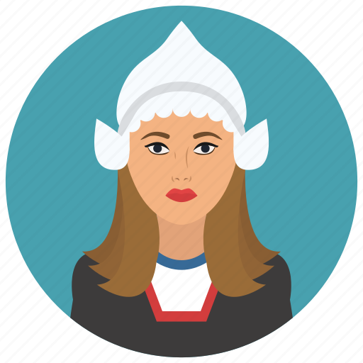 avatar, culture, dutch, people, user, woman icon