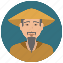 asian, avatar, culture, elderly, man, people, user