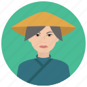 asian, avatar, culture, elderly, people, user, woman