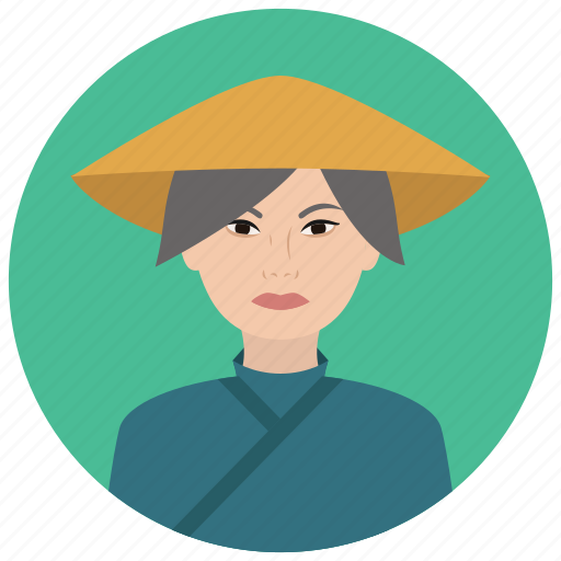 asian, avatar, culture, elderly, people, user, woman icon