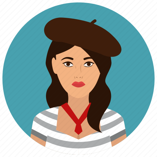 avatar, culture, french, people, user, woman icon