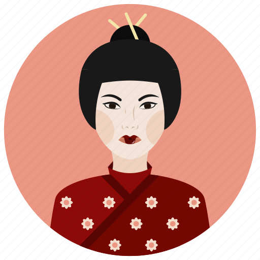 avatar, culture, geisha, people, user, woman icon