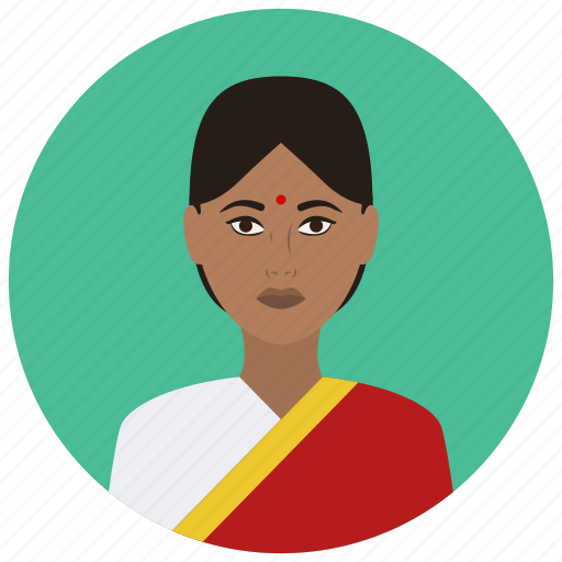 avatar, culture, indian, people, user, woman icon
