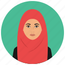 avatar, culture, muslim, people, user, woman icon