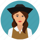 avatar, culture, people, pirate, user, woman icon