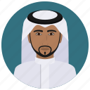 arabian, avatar, culture, man, people, saudi, user icon