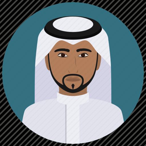 arabian, avatar, culture, man, people, saudi, user icon