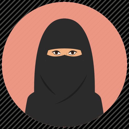 arabian, avatar, culture, people, saudi, user, woman icon