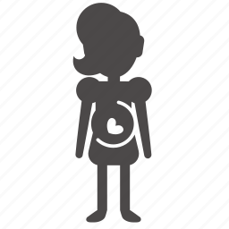 age, body, child, girl, human, people, pregnant icon