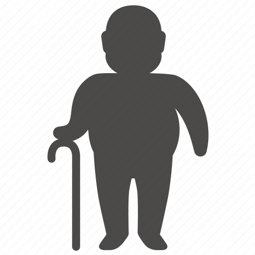 body, health, human, man, old, overweight, people icon