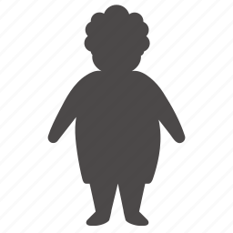 age, body, human, old, overweight, people, woman icon