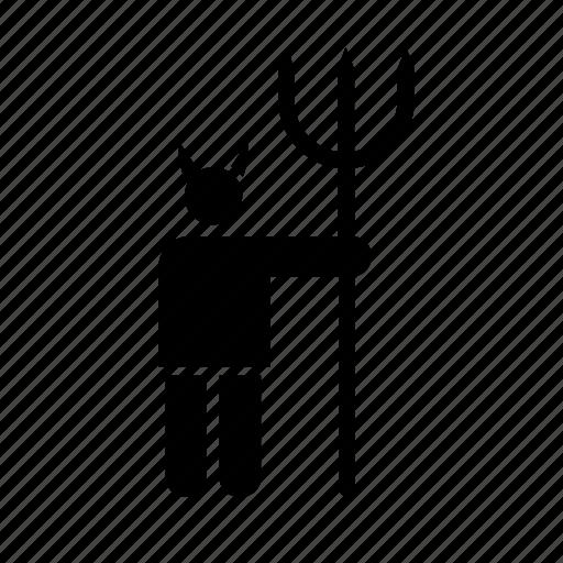 avatar, bad, devil, fork, hell, horn, satan icon