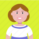 account, avatar, girl, lady, people, profile, woman icon