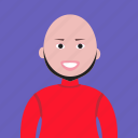 account, avatar, bald, boy, hairless, man, people, person, profile icon