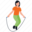 fitness exercise, healthy exercise, jumping figure, jumping jack, skipping rope icon