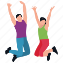 fitness exercise, fitness guide, jumping exercise, park fun, physical exercise icon
