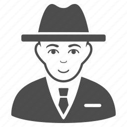 agent, bookkeeper, boss, business man, secret service, spy, thief icon