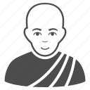 bald man, beliefs, buddhist, church, religion, religious, thai monk icon