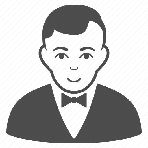 business man, dealer, gentleman, manager, person, user, waiter icon