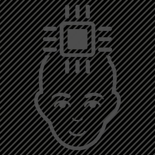 integrate, integration, interface, matrix, neuro, processor, user icon