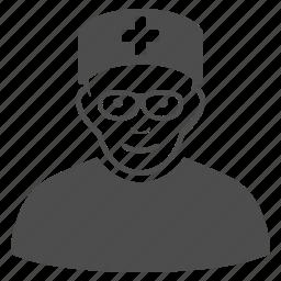 doctor, head physician, healthcare, hospital nurse, medic, medical, medicine icon