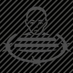 danger, jail, law, prison, prisoner, safety, thief icon