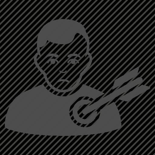 aim, arrow, bullseye, goal, target, targeting, victim icon