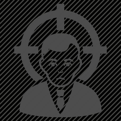 aim, bullseye, goal, point, security, target, victim icon