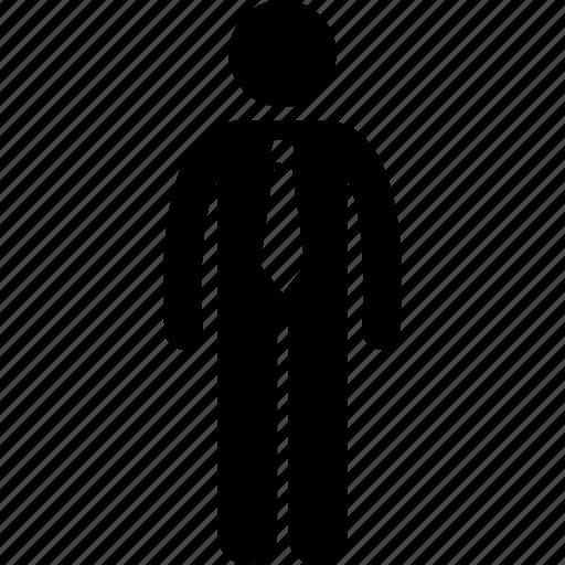 business, employee, male, man, necktie, professional, tie icon