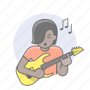 avatars, girl, guitar player, musician, woman