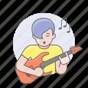 avatars, guitar player, guy, man, musician
