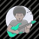 african, avatars, black man, guitar player, guy, man, musician