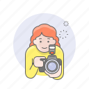 avatars, camera, girl, photographer, woman