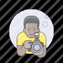 african, avatars, camera, guy, man, photographer