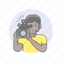 avatars, camcorder, girl, videographer, woman